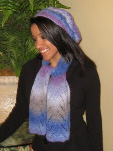 Lady Sparrow Scarf & Hat pattern set