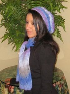 Lady Sparrow Lacey Hat & Scarf Set