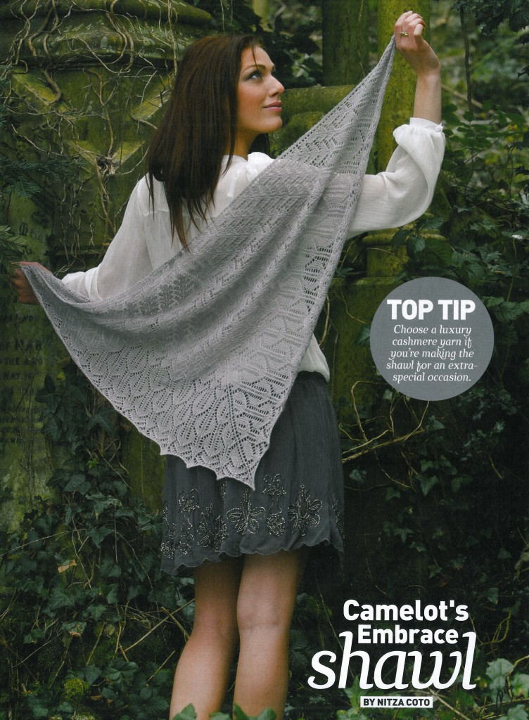 Camelot's Embrace Shawl Pattern - Knit Mag. 27