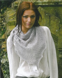 Camelot's Embrace Shawl pattern, Knit Mag.