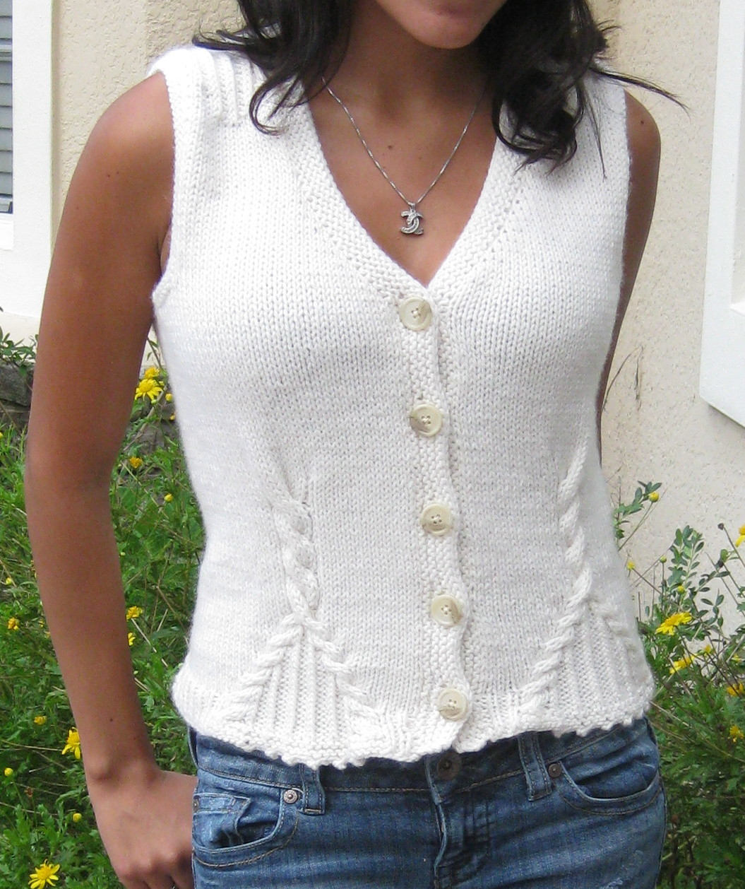 Free Knitted Vest Patterns : Soleto Vest Knitting Pattern EK Home