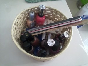 Nail polish basket