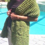 Diamond Panel Comfort Shawl Pattern